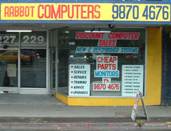 Shop Front of Aabbot Computers